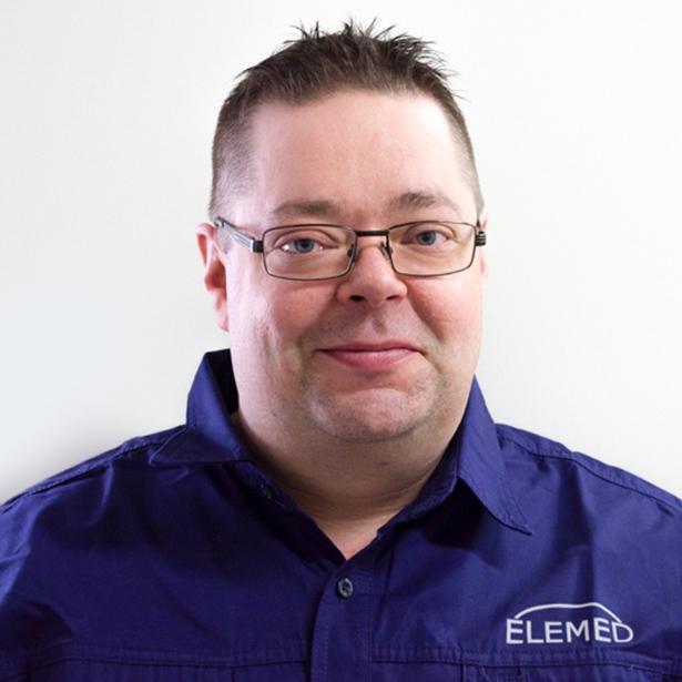 Mikko Kallasjärvi huoltopäällikkö Elemed Oy Oulu